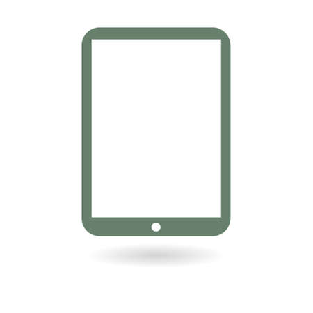 Modern digital tablet PC icon. Flat design icon. Illustration