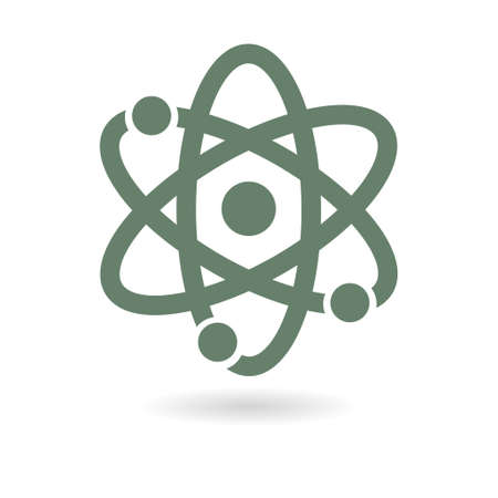 Pictograph of atom.
