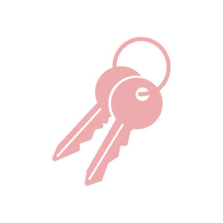 Key icon. Lock symbol. Security sign. Flat design style.