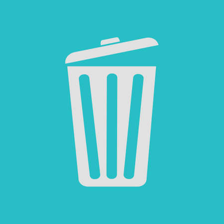 Trash can icon.