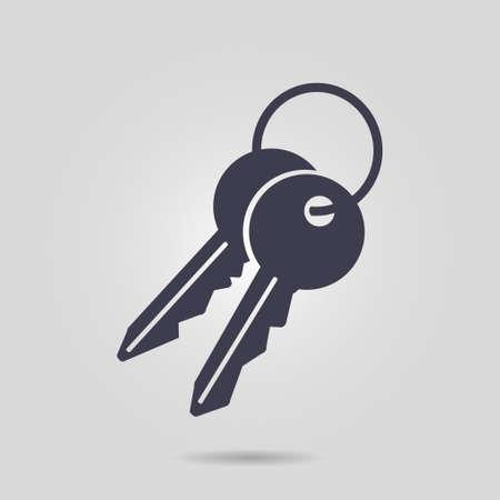 Key icon Flat design style.