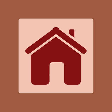 Vector Home Icon in flat design style.