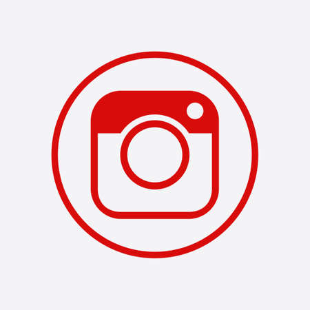 Photo camera icon.Social media sign simbol. Hipster camera.