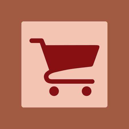 Flat icon of shopping chart.