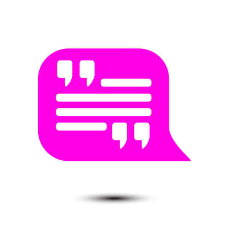 Quote Icon Quotation Mark In Speech Bubble Symbol Direct Oration Adorable Get Quote Icon