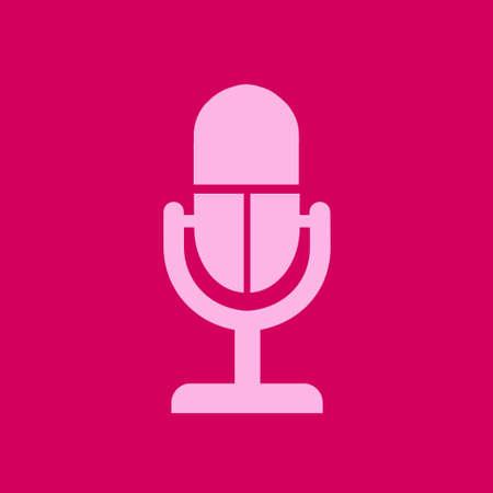 Speaker icon. Live music sign. Flat design style.