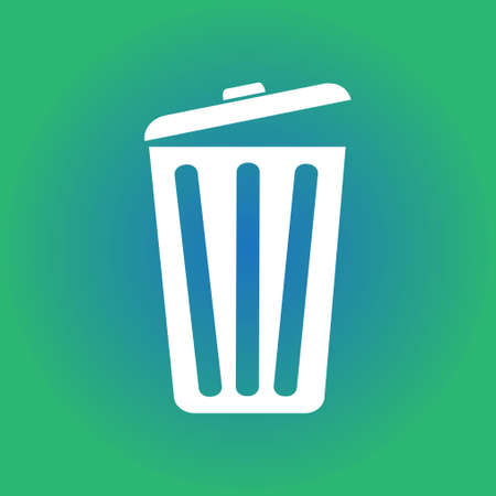 Trash can icon Vector illustration. Illustration