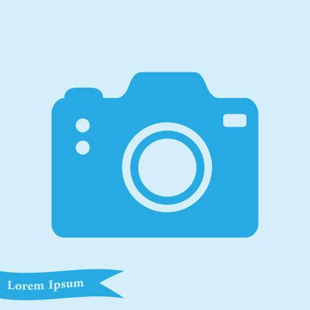 Photo camera symbol. Flat design style. Illustration
