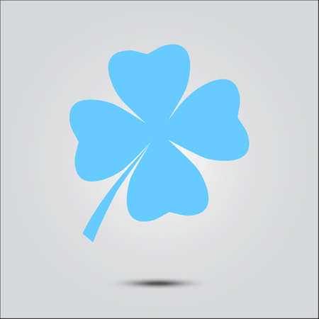 Leaf clover sign icon Flat design style.