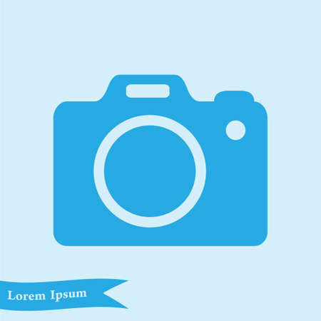 Photo camera symbol.  Flat design style.
