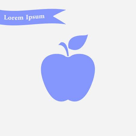 Apple icon. Healthy food concept. Naturopathy symbol. Illustration