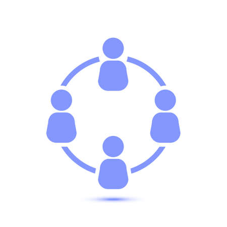 Communication concept. Social network single icon. Global technology. The network of social connections in the business. Illustration