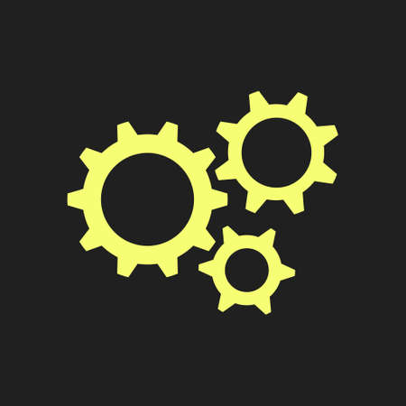 mechanism of progress: Gear icon. The development and management of business processes. Illustration
