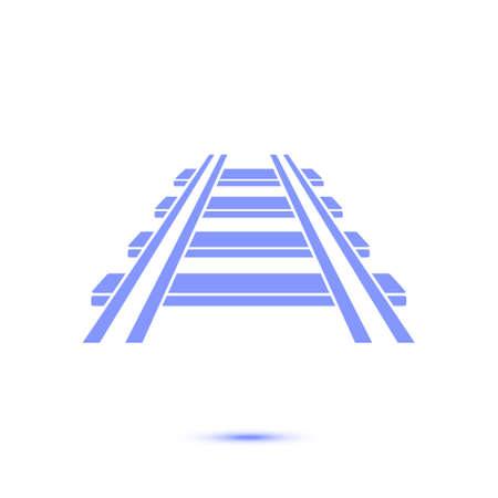 Ikona kolei. Znak pociągu. Ślad drogowy symbol.