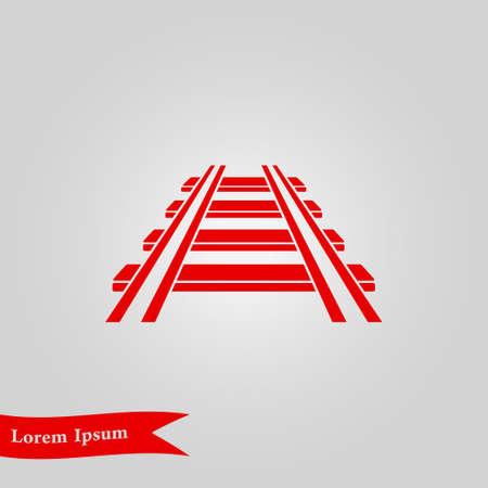 Railroad icon. Illustration