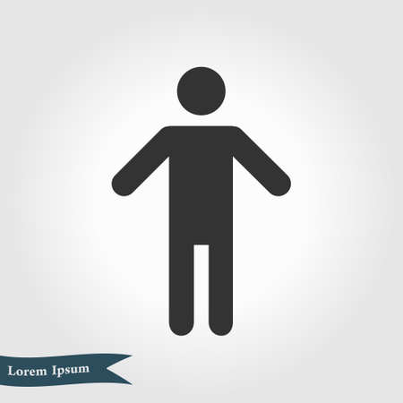 Human male sign icon. Male toilet. Flat style. A gender symbol is a pictogram used to represent either biological sex. 일러스트