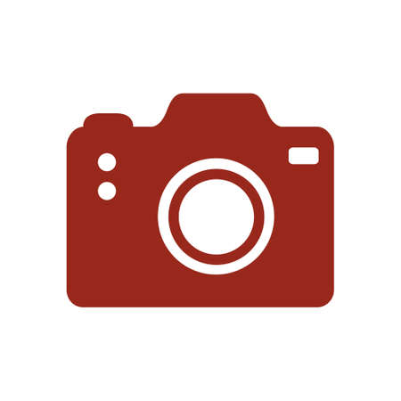 Camera symbol. DSLR camera sign icon. Digital camera  flat design style.