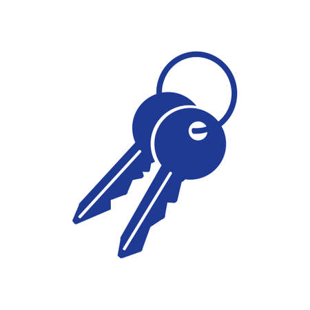 Key icon. Lock symbol. Security sign  flat design style.