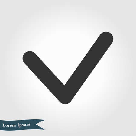 Yes icon, vector illustration. Flat design style.