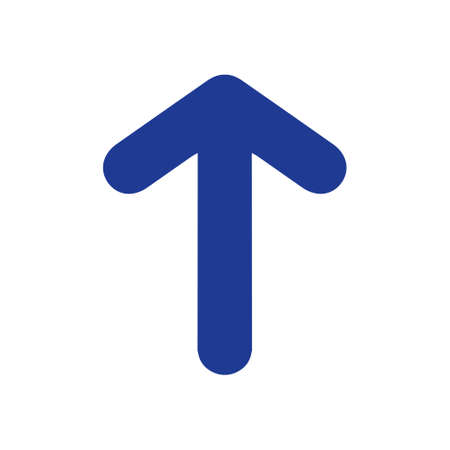 Arrow icon. Pointer direction for land navigation. Stock Illustratie