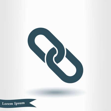 Link single icon.Chain link symbol. Icon link to the source. Ilustração