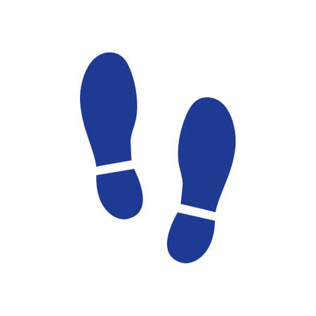 Black Imprint soles shoes icon. Flat design style. 免版税图像 - 93007197