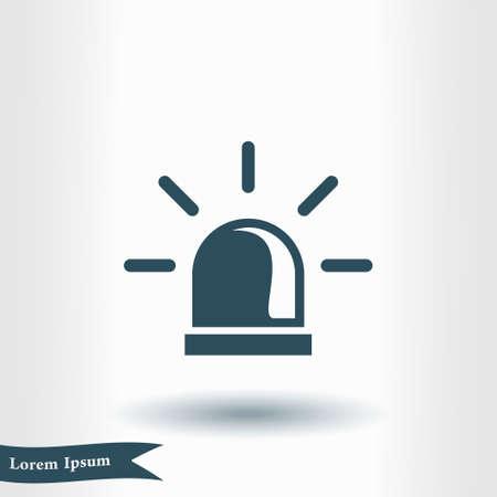 Alarm sign symbol. Illustration