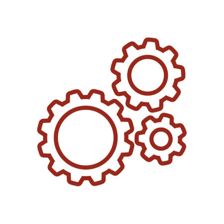 Gear sign icon. Vector illustration.