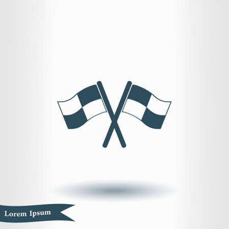 Flag pointer sign icon.