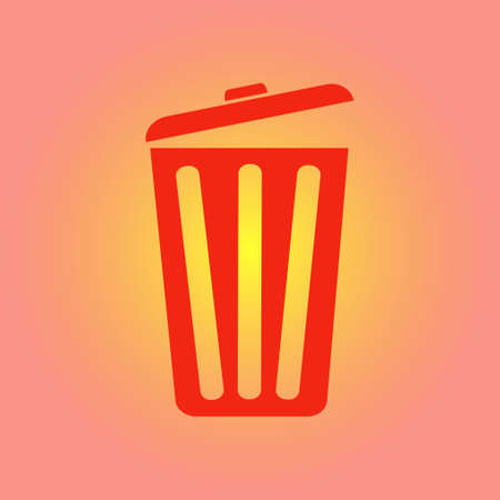 Trash can icon. Delete, Move to Trash, clear the disk space Vector illustration.