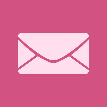 Flat icon of letter. Mail icon. Vector symbol. Vector illustration. Illustration