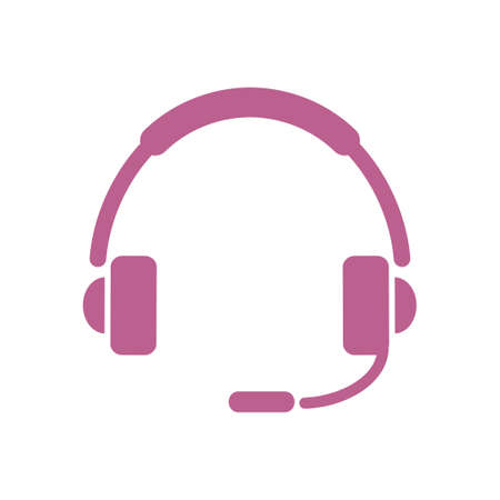 Flat icon of support call centre.  イラスト・ベクター素材