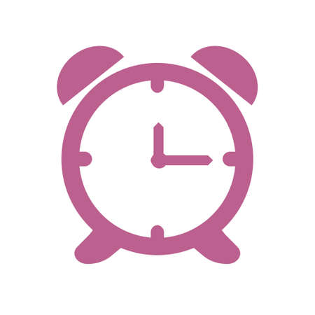 Open hours a day clock face, flat design style.  イラスト・ベクター素材