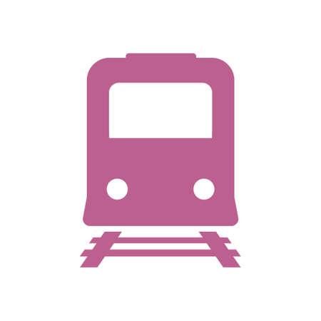 Train icon in flat design style Illustration. Illustration