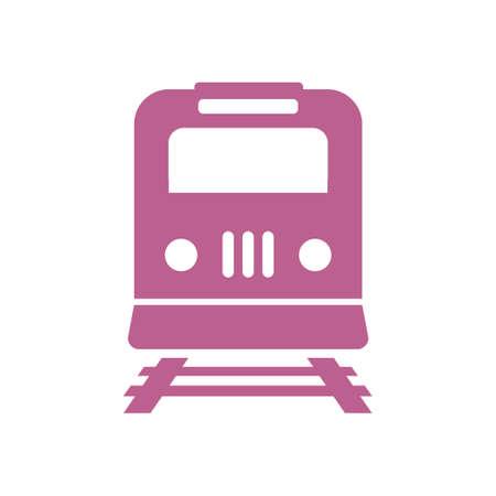 Train icon, metro symbol railway station sign. Illustration