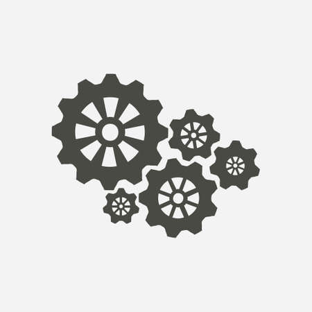 Icon of gears. Gear icon.The development and management of business processes.