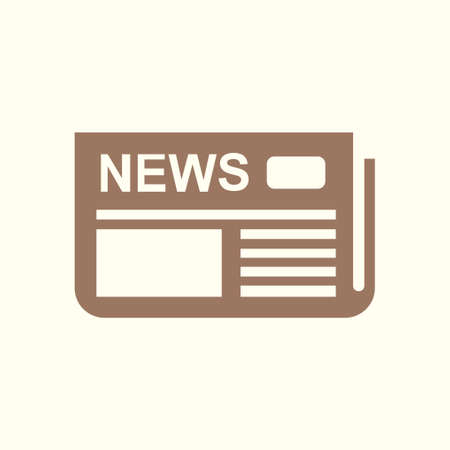 Flat design, overview of news media, the first news page. Иллюстрация