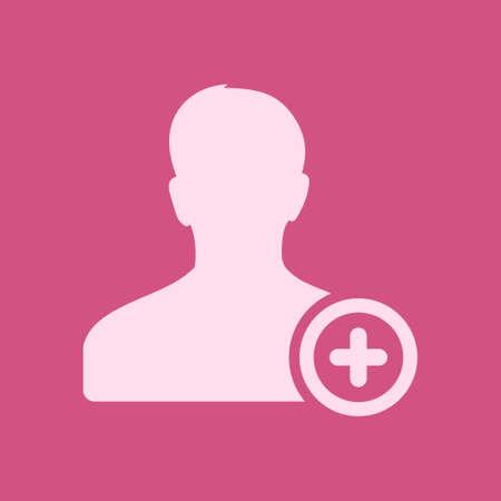 Add user sign icon vector illustration