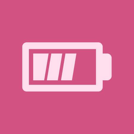 Battery charging icon vector. Çizim