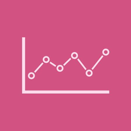 Graph chart icon Diagram symbol vector illustration