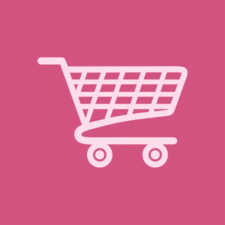 Flat icon of shopping chart vector illustration