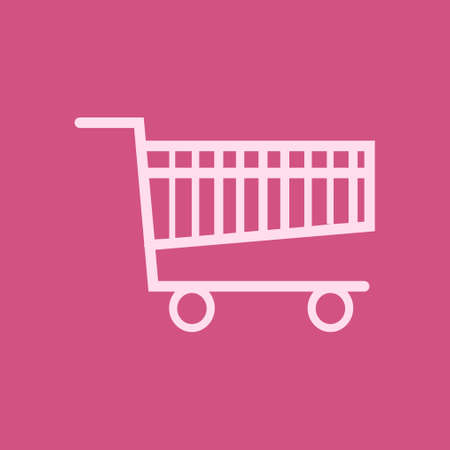 Flat icon of shopping chart with wider design vector illustration