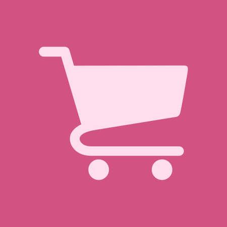Flat icon of shopping chart not see through design vector illustration Ilustração