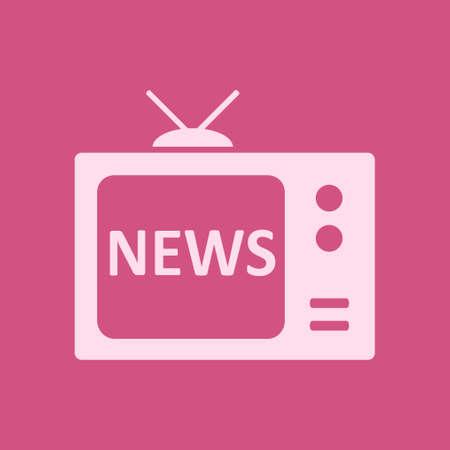 News report on tv vector illustration