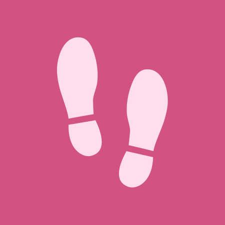 Imprint soles shoes icon vector illustration Ilustração