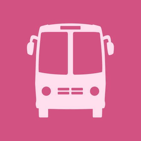 Bus icon School bus symbol vector illustration