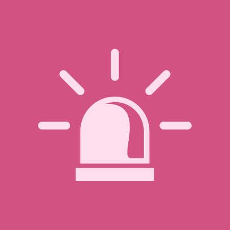 Police single icon Alarm Power vector illustration Çizim