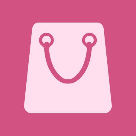 Shopping bag icon. Boutique shopping symbol. Flat design. Ilustração