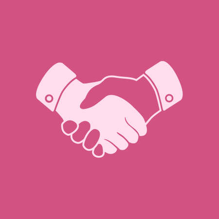 Handshake sign icon. Successful business symbol. Flat design style.