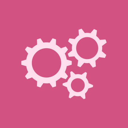Gear icon. The development and management of business processes. Çizim